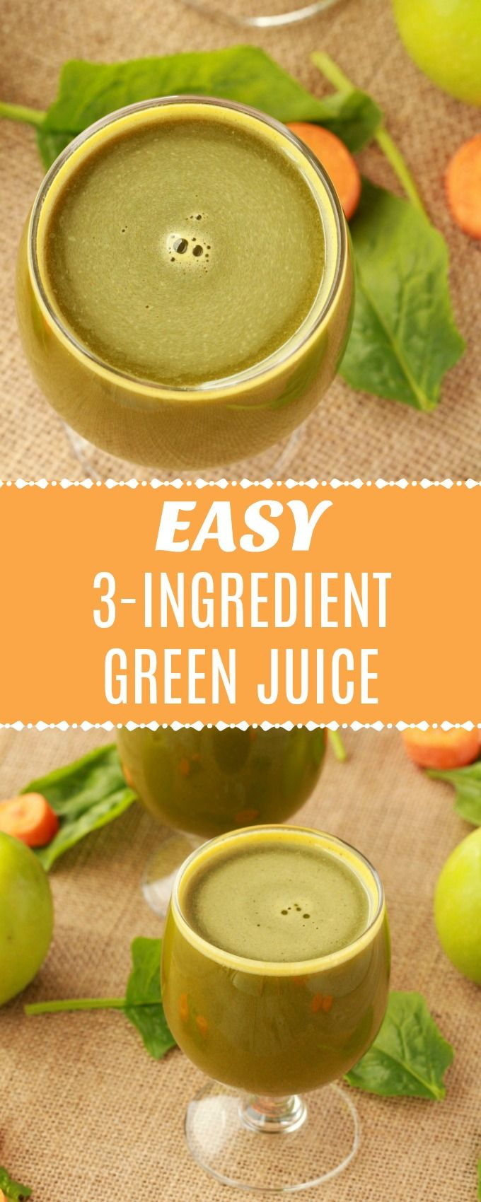 Mild and delicious 3-ingredient green juice. This perfectly sweet juice is super easy to make and extremely refreshing. Ideal for breakfast or a power snack. #vegan #lovingitvegan #greenjuice #juicing #rawvegan | lovingitvegan.com