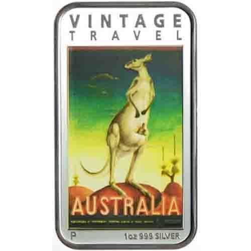 Australien 1 Dollar Vintage Reiseposter 1 Unze Silber PP | eBay