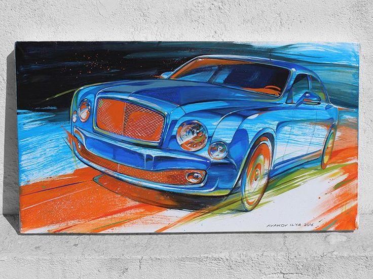 Bentley Mulsanne by Ilya Avakov #art #artsociety #paperdraw #painting #paintingoftheday #drawingskills #drawingoftheday  #brushes #ilyaavakov #russiancar #bentleymulsanne #autoart #automotive #bentley #automotiveart #artavakov #avakov #artcar #drawings #paint #sketch #sketchcar #carpainting #carart #society6 #ilyaavakovart #car #sketchbook #illustration #carartspot