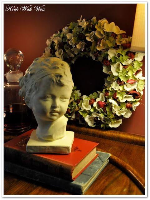 Krek Wak Wou hydrangea wreath