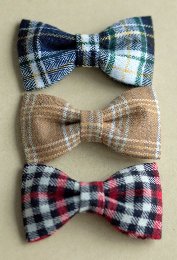 NEW  Baby to Boy Bow Ties  Handmade Fabric by LittleJoyCreations