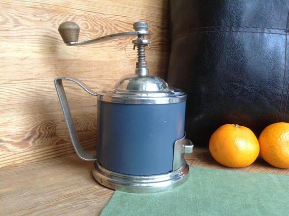 Soviet Vintage Coffee Grinder, Mechanical Coffee Mill Working Condition, Grey Kitchenware, Food Grinder, Old Grinder, Vintage Rare Houseware