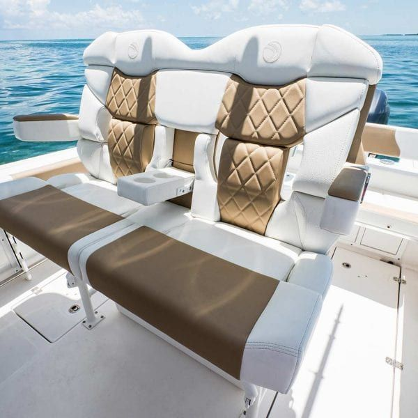 245cc Deluxe Helm Seating W Folding Bolsters Armrests Boat Upholstery Center Console Fishing Boats Center Console Boats