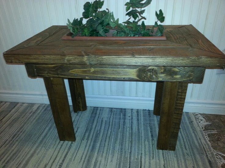 Same little planter side table for a patio as previously pinned only this one is done in woodstain. ♡