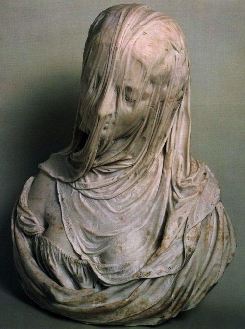 Bust of a Veiled Woman (Puritas) Museo del Settecento Veneziano, Ca' Rezzonico…