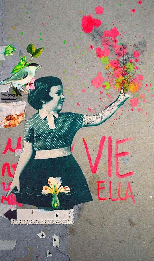 Collage. Sobre lo que no está de PAZ BRARDA. - Colectivo Bicicleta | Revista digital/Artes visuales. ilustración y diseño Colombia y Latinoamerica
