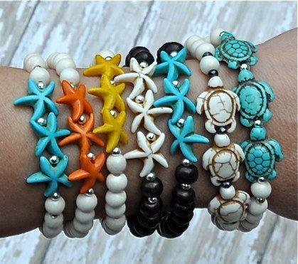 Starfish Bracelets | Sea Turtle Bracelets