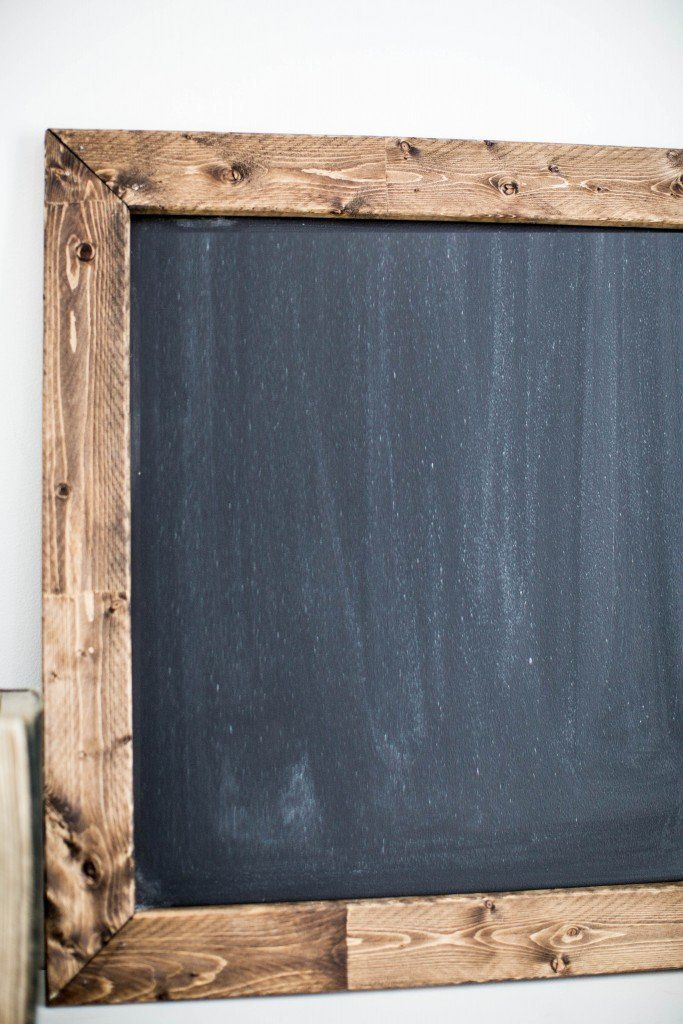 DIY MAGNETIC CHALKBOARD By Magnolia on January 16, 2016   Last week, Joanna shared some unique ways to keep your home organized while also creating intentional creative spaces for your kiddos in the new year. This week, we wanted to continue the same theme with this cute and easy-to-make magnetic chalkboard.  These memo boards are great to remind you of upcoming events, to hang your grocery list on, or to leave a quote or message for the family.  Here's what you'll need: -Piece of masonite…
