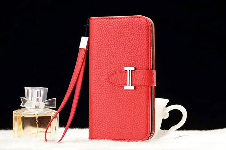 Leather hermes Galaxy Note 5 Edge Wallet Case Red