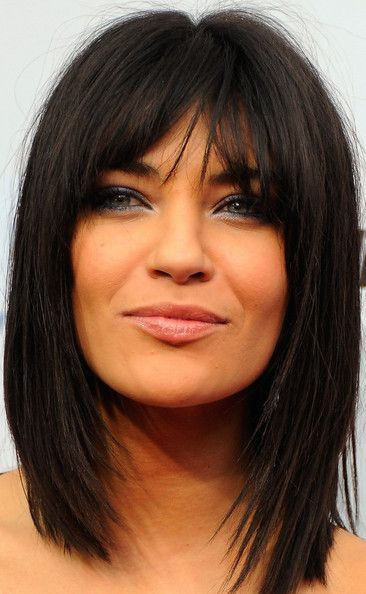straight cut with bangs    LOVE THIS!!!!  IT WILL BE MY NEXT HAIR CUT!!! nice for new summer hair?  maybe
