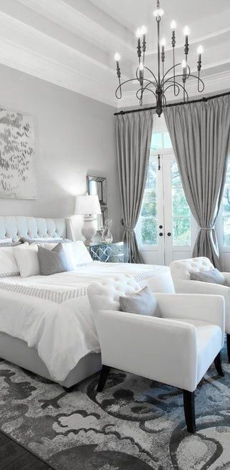 Modern bedroom design ideas. Pale colors. Contemporary decor. Interior design. Luxurious chandelier. Bedroom decorated with neutral colors. For more inspirational ideas take a look at: www.bocadolobo.com #LuxuryBeddingNeutral