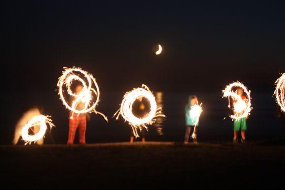 Crescent Moon Sparklers