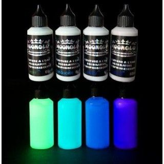 PHOSPHORESCENT WATERBASED PAINT MOONGLO 4 COLORS KIT