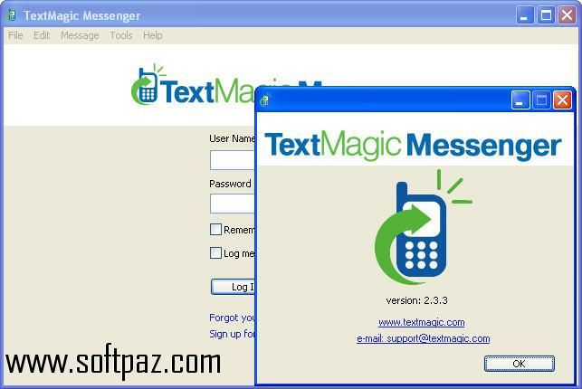 Download TextMagic Messenger windows version. You can get it from Softpaz - https://www.softpaz.com/software/download-textmagic-messenger-windows-183371.htm for free. High speed servers! No waiting time! No surveys! The best windows software download portal!