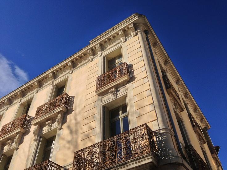 Architecture in Perpignan France at Quai Vauban