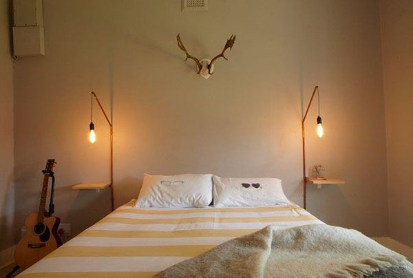 diy bedside tables bedside tables and lamps on pinterest bedside lighting wall mounted