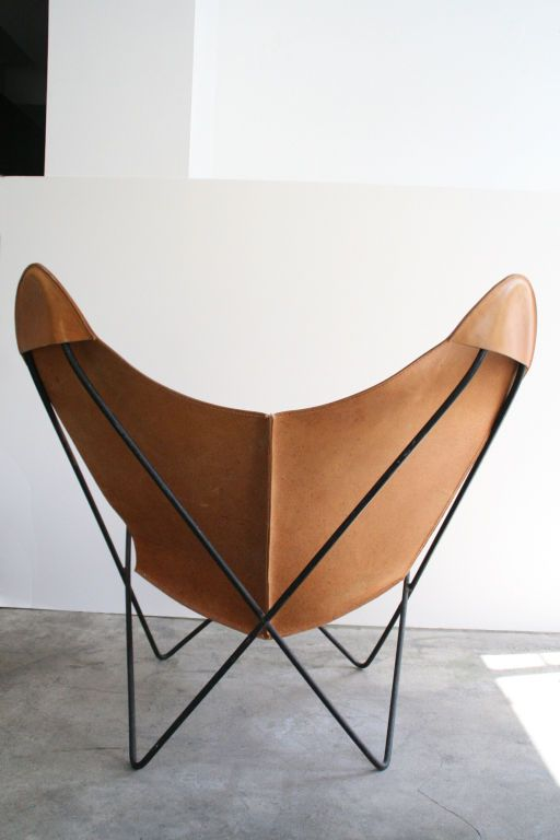 1stdibs.com | Pair of Antonio Bonet BKF Leather Iron Butterfly Chairs