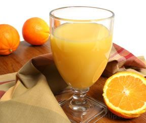Fresh Squeezed Orange Juice. I made some this morning.