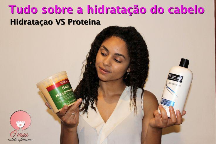 Tratamento profundo do cabelo - hidratação vs proteína. Cabelo desfrisado