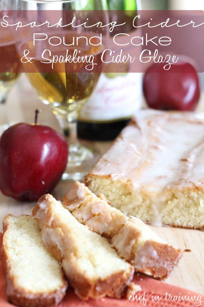 Umm. Amazing! I'm so making this!! Sparkling Cider Pound Cake with a Sparkling Cider Glaze! This recipe sounds incredible!