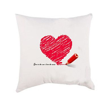 Gepersonaliseerde hart patroon Pillow Case (Kussen niet inbegrepen) – EUR € 11.83