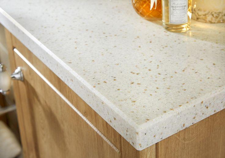 28mm alabaster beige solid surface bathroom worktop #downton #downtonshaker #bathroomfurniture #myutopia