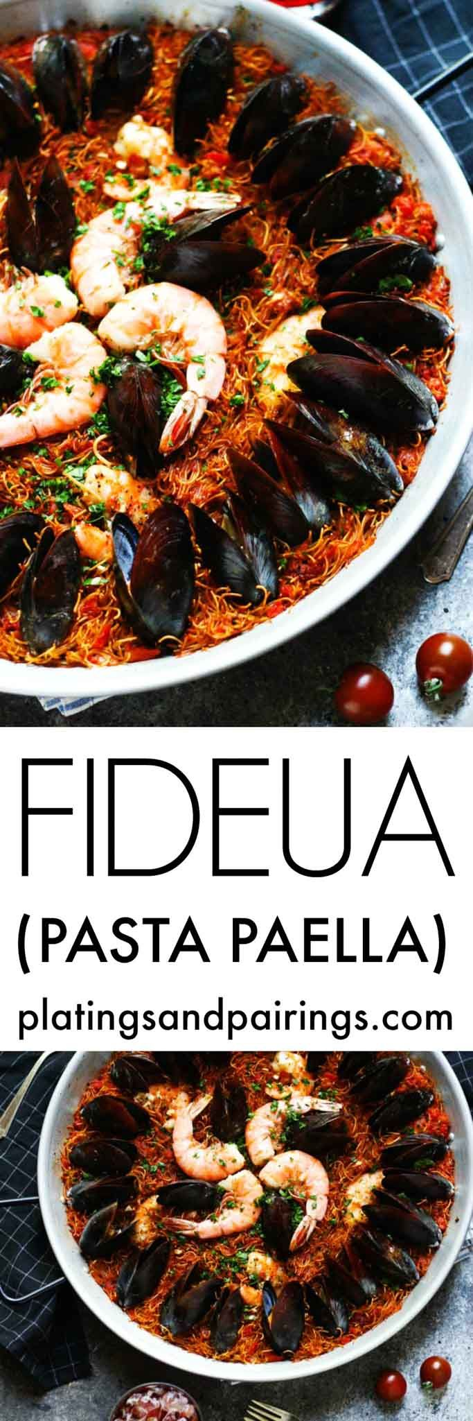 Have you tried Fideuá? It's like Paella, but made with broken pasta instead of rice. A Catalan specialty! | platingsandpairings.com