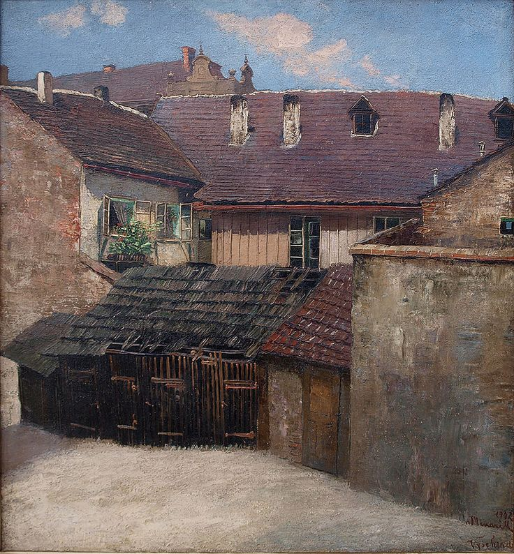 Dvorek na Vyšehradě 1912 - Jan Minařík – Wikipedie