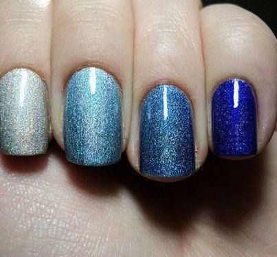 Love the shades of blue with sparkles