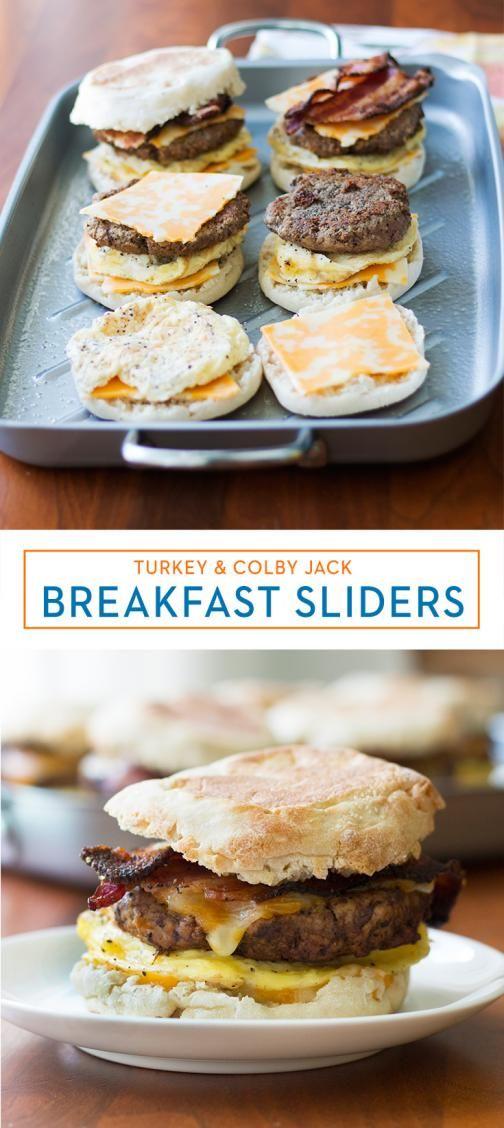 Turkey & Colby Jack Breakfast Sliders