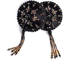 holloway smith noir :: supernova swarovski embellished nipple tassels