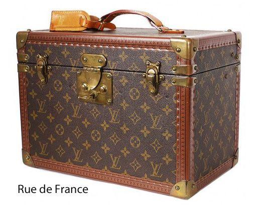 Vintage Louis Vuitton large train travel case trunk