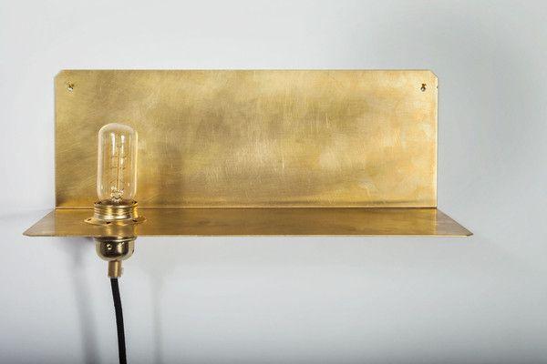 90 brass shelf lamp   Kollekted by