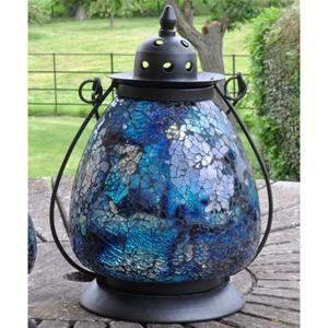 Adobe Zanzibar Azul Garden Lantern