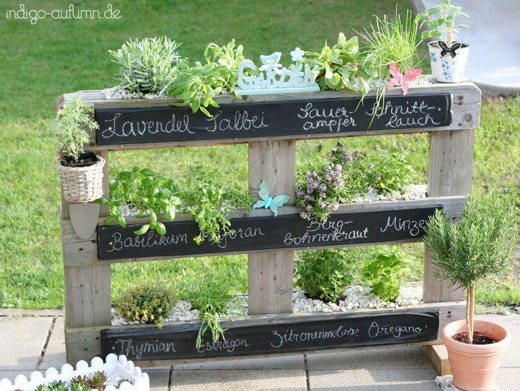 Meine Kräuterpalette - perfekt für den Sommer im Garten!  - Herb palette. Love it! Fun gardening in summer.