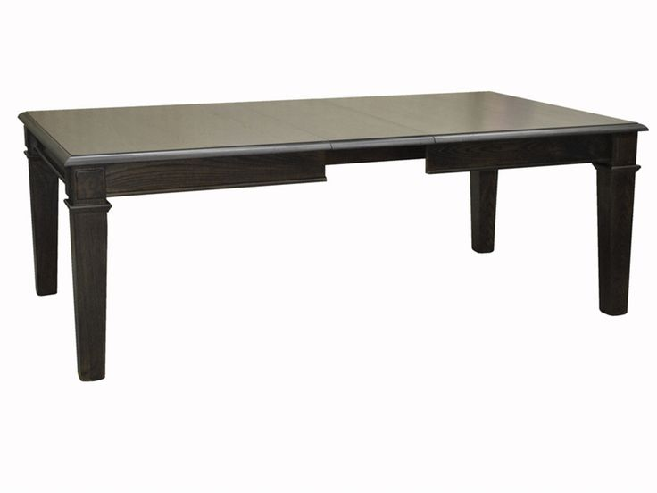 This dinning room table would work well in a small space because the center of the table can be removed meaning it can be adjusted for space.