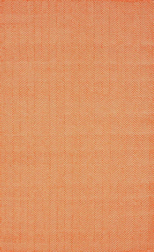 Chalet Herringbone Flatwoven Orange Rug