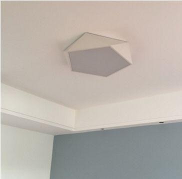 LEXA Geometric LED Ceiling Light in White (52cm)