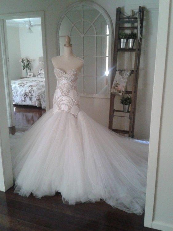 J'aton Couture - Strapless - Ivory - Size 8 wedding dress for sale in Shepparton, Victoria | Still White Australia