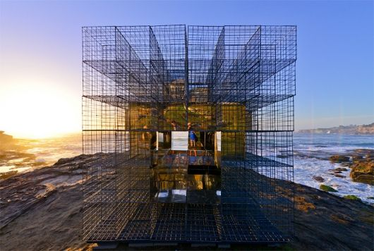 The House of Mirrors reinvents the Australian beach hut with a hint of mirror magic | NEON's House of Mirrors at Sculpture by the Sea | Bustler