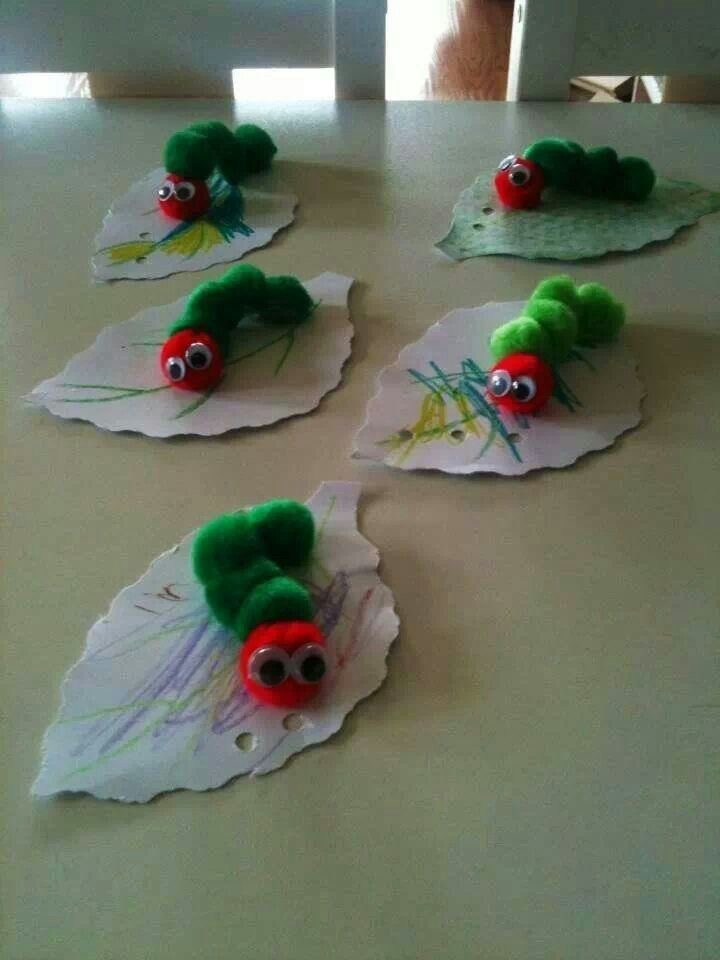 101 best images about raupe schmetterling on pinterest for Caterpillar crafts for preschoolers