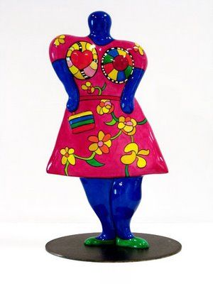 nana with handbag 2001. Keywords: Nikki de Saint Phalle, Nana, Pop Art, femenine, sculpture,