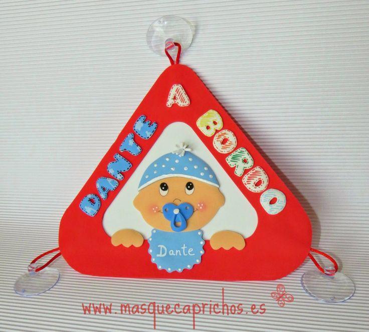 Dante a Bordo - Señal de Bebé a Bordo realizada en goma E.V.A.