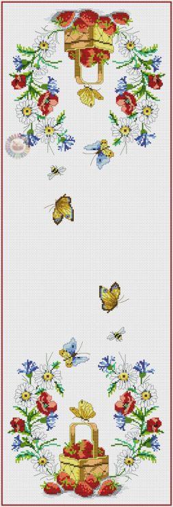 Gallery.ru / Фото #4 - 1 - kento / serweta z koszem truskawek i polnych kwiatów (1-6)