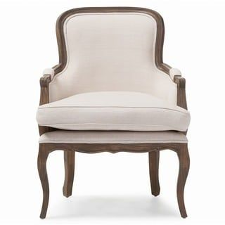 Shop for Baxton Studio Napoleon Traditional French Accent Chair in Brown Ash wood finish. Get free shipping at Overstock.com - Your Online Furniture Outlet Store! Get 5% in rewards with Club O! - 16765806