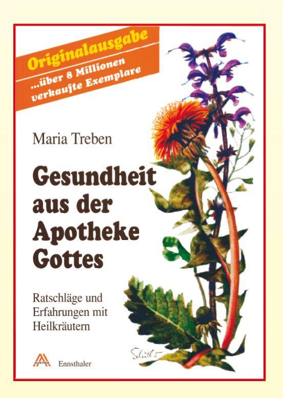 """Maria Treben-Buch """"Gesundheit aus der Apotheke Gottes, Heilkräuter aus dem Garten Gottes"""""""