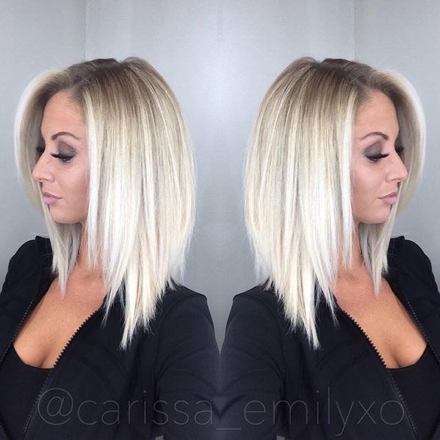 Hair By The Amazingly Talented @rubydevine At My Favorite #hairsalon @frizzlesoldtown #blonde #blondehair #blondebombshell #blondegirls #hair #hairstyle #lob #aline #alinelob #alinbob #prettyhair #pretty #olaplex #makeupbycarissa #makeup #makeuplover #makeupaddict #lipstick #balayage #hairpainting #frizzlesoldtown