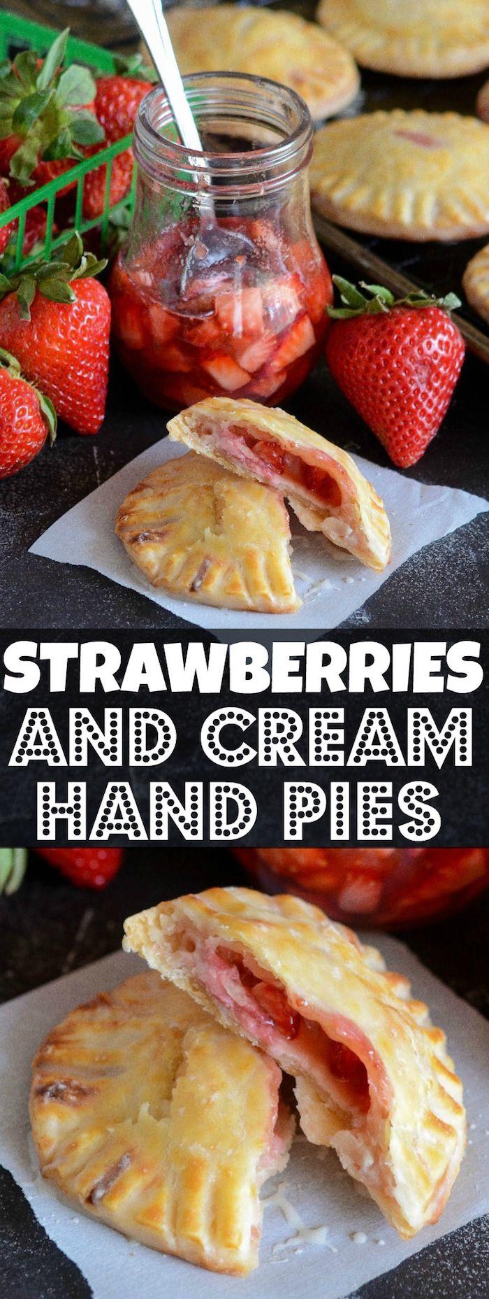 Strawberries & Cream Hand Pies