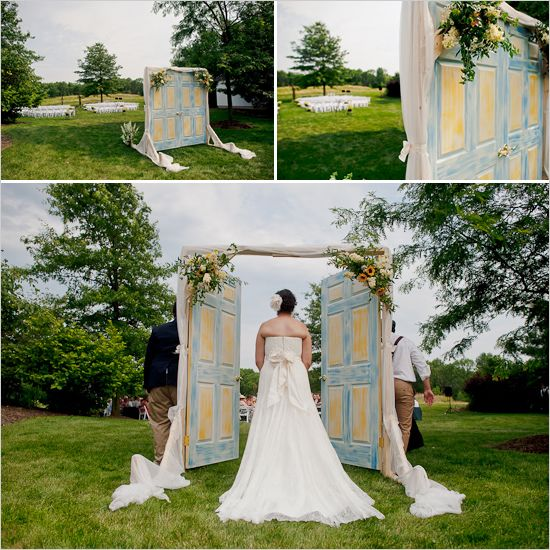 wedding door - searched high and low for this door...finally found it!!!  this would be fun between two trees!