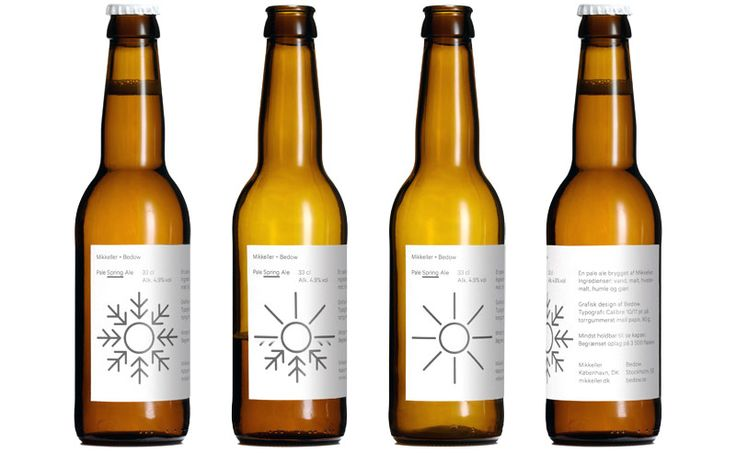 Interesting and unique simple label with symbol representing different beers